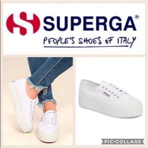 Superga Acot Linea Sneaker {White} 38/7.5